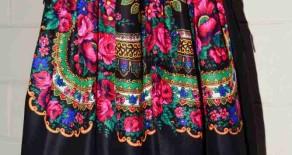 Fuste Midi – print basma traditionala
