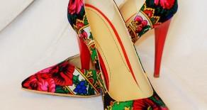 "Pantofi ""Fiori di Primavera"" – cu toc stiletto"