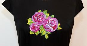 Rochie Black&Flowers