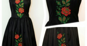 "Rochie ""Classic Roses"""