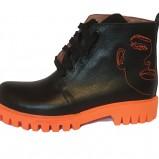Orange Urban Boots
