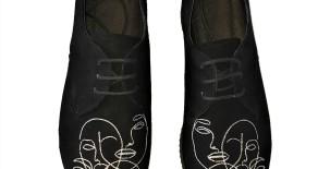 """Pantofi brodati """"Faces"""""""